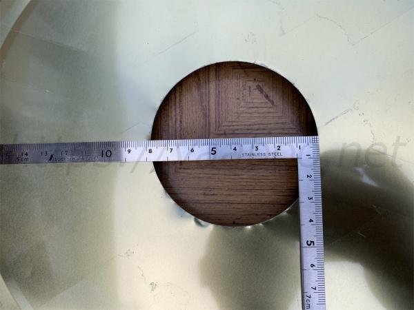 ペール缶のふたを加工したサイズ
